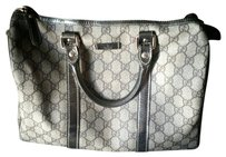 Gucci Leather Satchel in Brown with silver trim