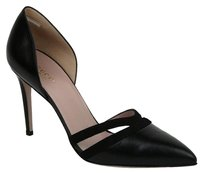 Gucci Leather Suede Pointed Black Pumps