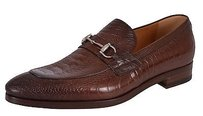 Gucci Mens Shoes Hylands Ostrich Claw Bit Loafers 353016 Brown