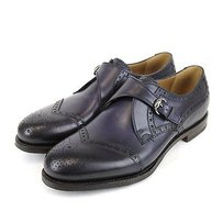 Gucci Mens Leather Dress Shoes Wbuckle 322495 4220