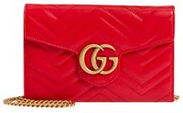 Gucci Vintage Leather Chain Quilted Shoulder Bag