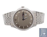 Gucci Mens Mm Gucci G-timeless Champagne Dial Diamond Watch Ya126310 1.5 Ct