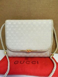 Gucci Vintage Gold Gg Cross Body Bag