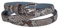 Gucci New Gucci Women's $395 331689 Degrade Python Snakeskin Skinny Belt 30 75