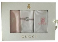 Gucci NWT Gucci Pink/White Baby Bibs