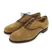 Gucci Mens Suede Dress Shoes Oxford Brown 309028 2561