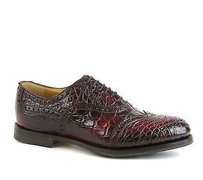 Gucci Mens Crocodile Dress Shoes Oxford Wine Red 322494 6226