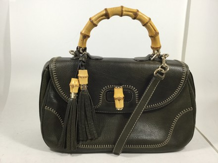 Gucci Leather Bamboo Purse Shoulder Bag