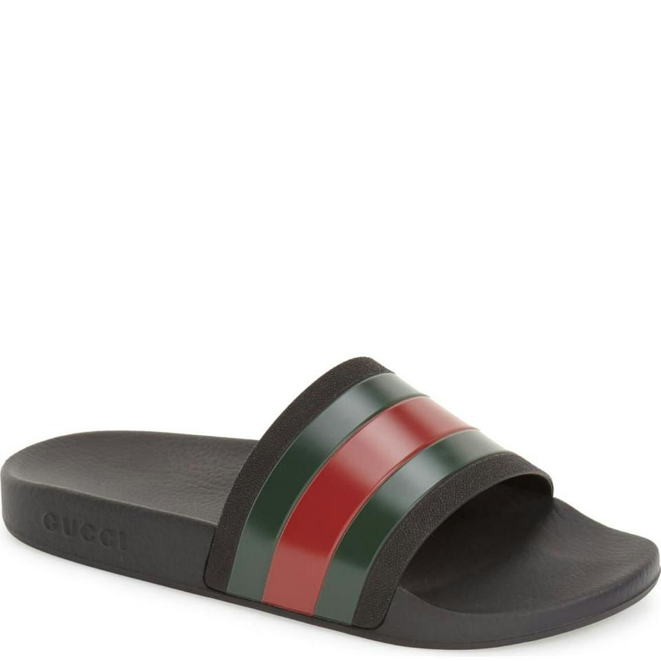 27948fd48 Gucci Pursuit '72 Rubber Slide Sandals Size US 9 Regular (M, B ...