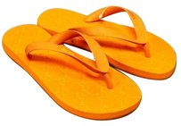 Gucci Rubber Thong Orange Sandals
