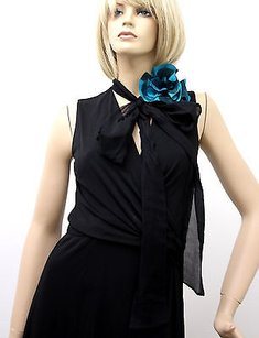 Black Maxi Dress by Gucci Runway W Flower