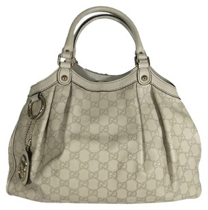 Gucci Satchel in White leather