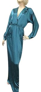 Teal Maxi Dress by Gucci Silk Long 40