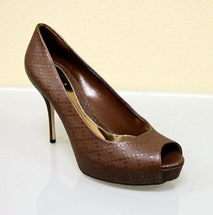 Gucci Sofia Diamante Leather Brown Platforms