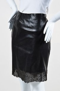 Gucci Perforated Skirt Black