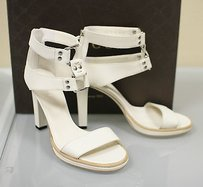 Gucci Gladiator Leather Whites Pumps