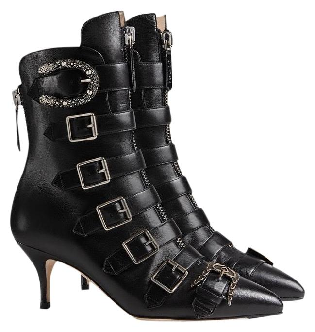 GucciBuckled Leather Booties FDVBaP