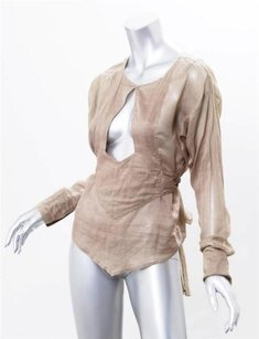 Gucci Womens Cotton Mocha Top Beige