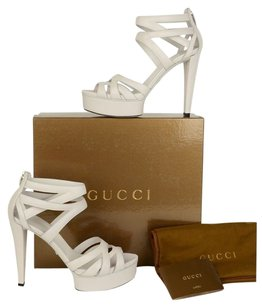 Gucci Venus Platform Gladiator White Sandals