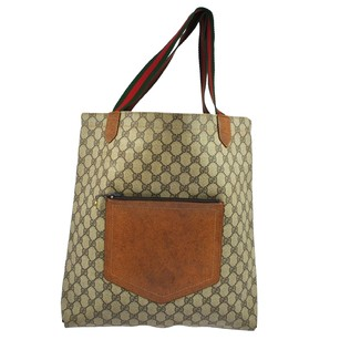 Gucci Vintage Pvc Leather Tote in Brown
