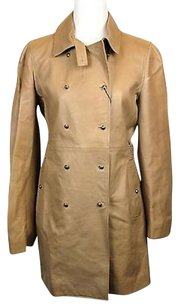 Gucci Womens Long Leather Double Coat