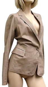 Gucci Womens Runway Leather Coat