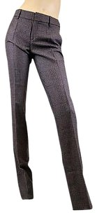 Gucci Womens Wool Houndstooth Dress Pants