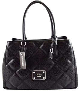 Guess Piano Carryall Tote in Black
