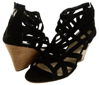 GUESS Bravado Suede Black Platforms