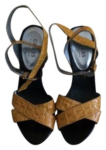 Guess By Marciano Yellow & Black Platforms