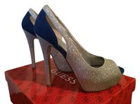 GUESS ROYAL BLUE AND SILVER GLITTER Pumps