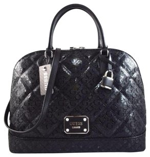Guess Piano Satchel in Black
