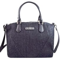 Guess Tambako Denim Crossbody Satchel in Black