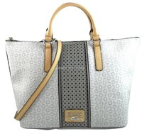Guess Arvin Grey Off White Satchel in Gray