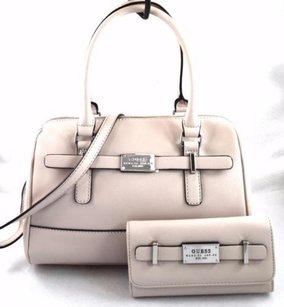 Guess Present Off White Nude Satchel in Ivory
