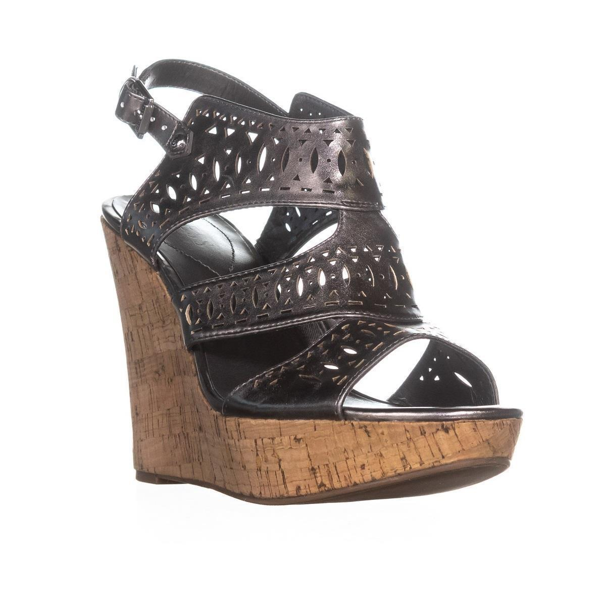 9ee131db066b Guess silver vannora ankle strap heels pewter wedges size jpg 960x960 Pewter  wedges