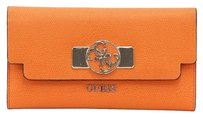 Guess Wallet Faux Leather Orange Clutch