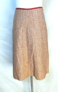 Gunex Italian Tweed Skirt Red