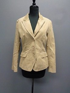 H&M H And Tan Corduroy Cotton Long Sleeved Button Down Blazer Sm9929
