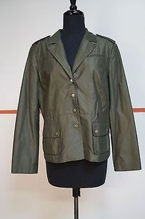 H&M Hm Olive Green Cotton Nylon Military Jacket