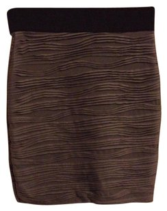 H&M Skirt Gray Textured Stretchy Pencil Skirt