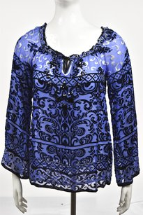 Hale Bob Womens Top Purple