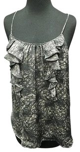 Halogen Grey Ruffled Scoop Top Gray
