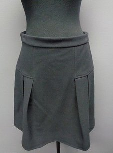 Halogen Navy Polyester Blend Lined Casual Pleated Mini Sm3160 Skirt Blue
