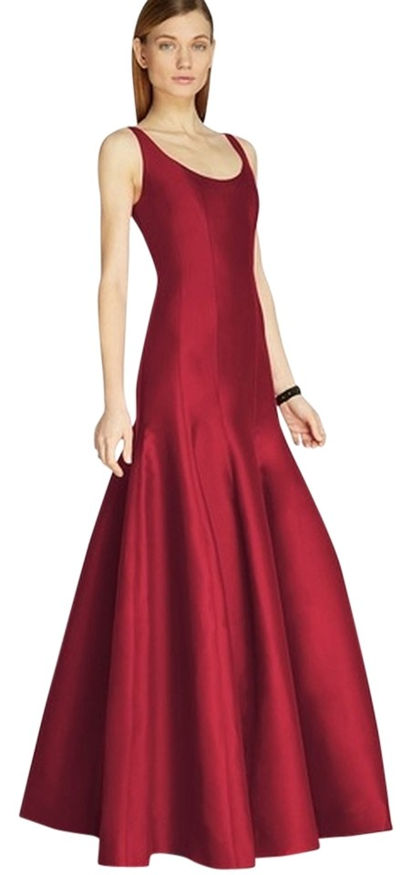 Halston Red Heritage Garnet Tulip Gown Evening Dress - 50% Off Retail