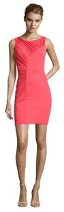 Halston Stretchy Fitted Sheath Night Out Date Night Dress