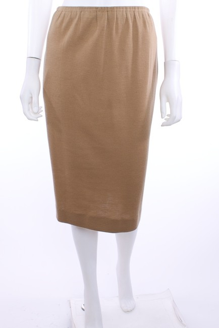 Halston Vintage Knit Skirt TAN