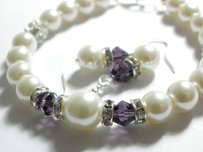 Other Set Of 6 Bridsmaid Bracelet And Earrings White Cream Pearl Set Bridesmaid Bracelet And Earrings Bridal Gift