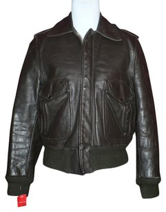 Harley Davidson Leather Bomber Distressed Brown Leather Jacket