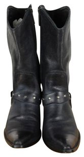 Harley Davidson Womens Solid 7m Leather Side Zipper Black Boots